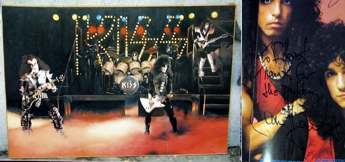 Rob made this 6' tall painting for KISS and presented it to them when they were on tour